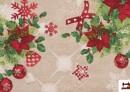Venta de Tela de Algodón Anti Manchas Estampado de Navidad