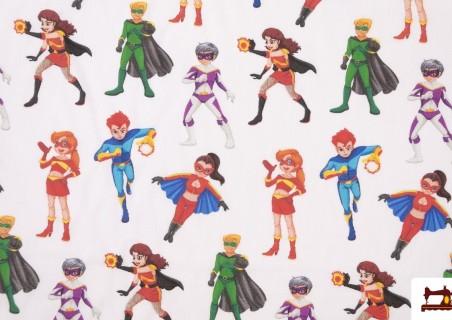 Tela de Superheroes Infantiles de Colores
