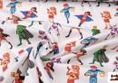 Venta de Tela de Superheroes Infantiles de Colores