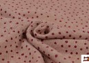 Venta online de Tela Punto Sudadera Fina Estampada Infantil Topitos color Rosa matices