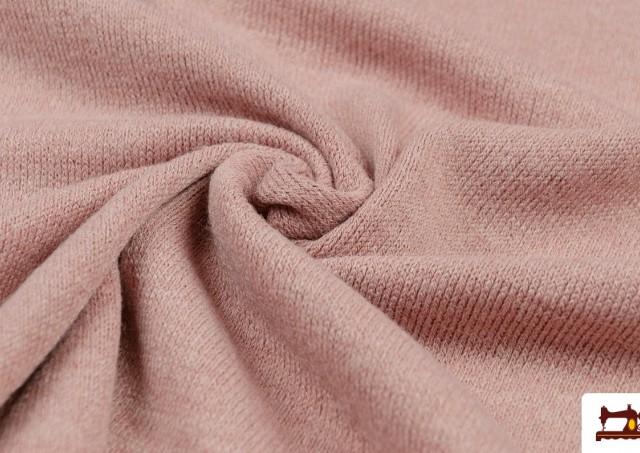 Venta online de Tela de Punto Sudadera Fino Colores Suaves color Rosa matices