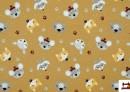 Venta online de Tela de Punto de Camiseta Paz y Fauna