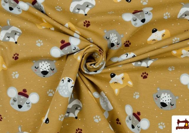 Tela de Punto de Camiseta Paz y Fauna