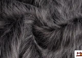 Tela de Pelo Simil Marmota Natural Gris
