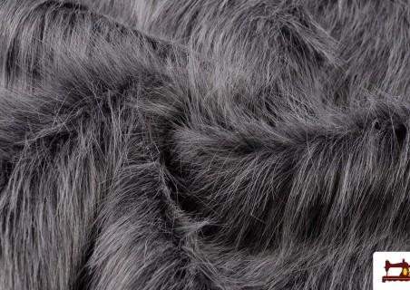 Venta de Tela de Pelo Largo Simil Marmota Natural Gris