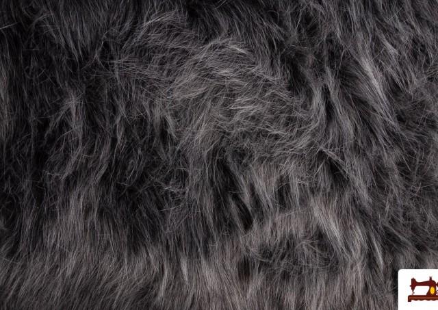 Comprar online Tela de Pelo Largo Simil Marmota Natural Gris