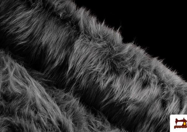 Comprar Tela de Pelo Largo Simil Marmota Natural Gris