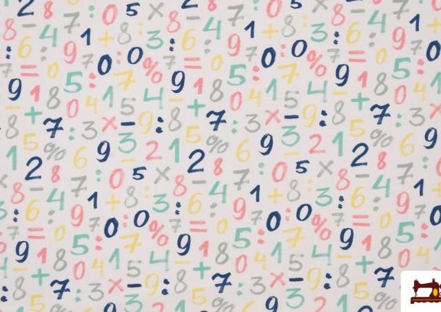 Comprar online Tela Infantil Estampada con Números de  Colores Suaves
