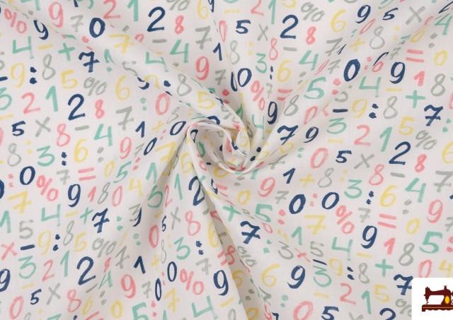 Venta online de Tela Infantil Estampada con Números de  Colores Suaves