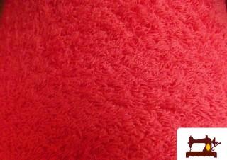 Tela de Rizo Algodón Americano color Rojo