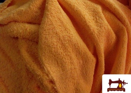 Tela de Rizo Algodón Americano color Naranja