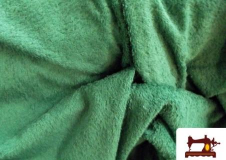 Tela de Rizo Algodón Americano Verde Botella