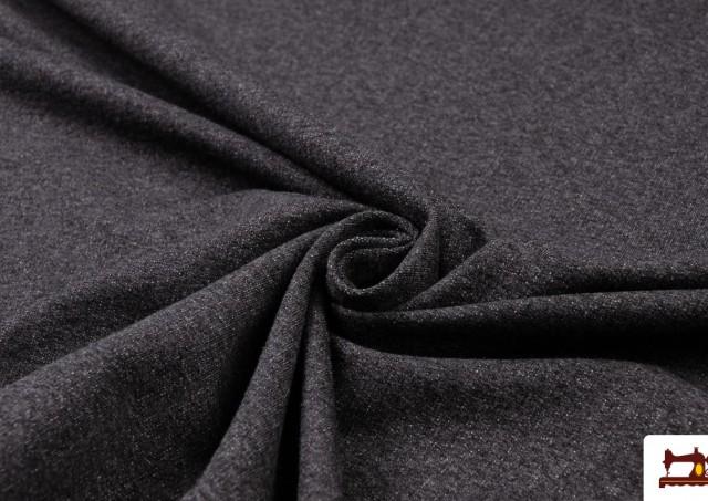 Tela de Sudadera Fina de Colores French Terry color Gris oscuro