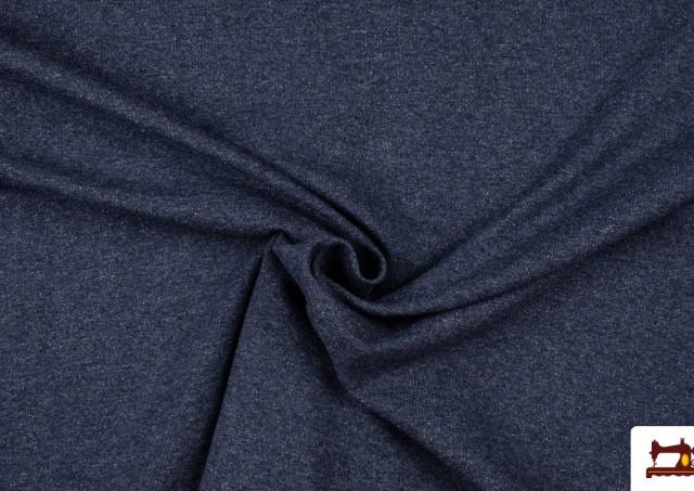 Comprar online Tela de Sudadera Fina de Colores French Terry color Azul Marino