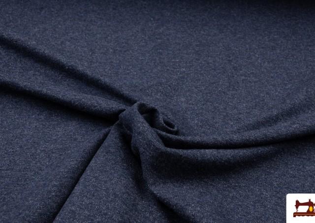 Venta online de Tela de Sudadera Fina de Colores French Terry color Azul Marino