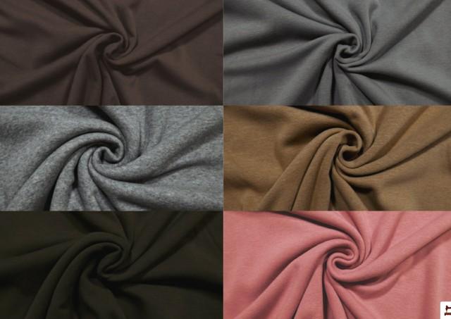 Comprar online Tela de Sudadera Flannel Lisa de Colores color Rosa