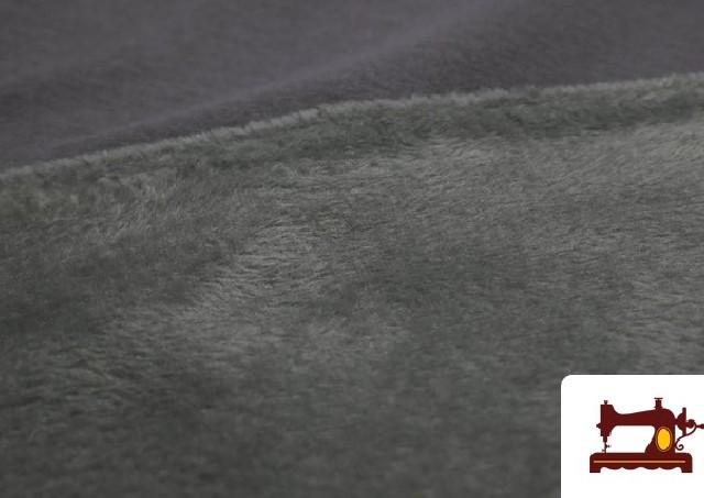 Comprar online Tela de Sudadera Flannel Lisa de Colores color Gris