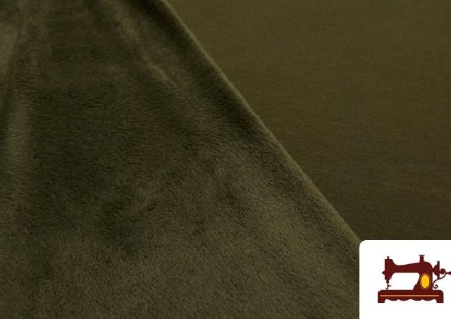 Venta de Tela de Sudadera Flannel Lisa de Colores color Caqui