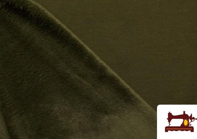 Comprar online Tela de Sudadera Flannel Lisa de Colores color Caqui
