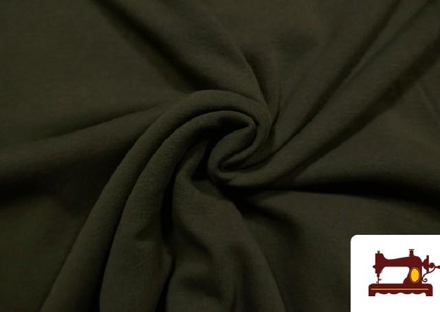 Venta online de Tela de Sudadera Flannel Lisa de Colores color Caqui