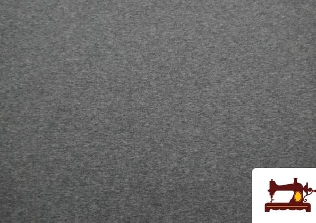 Tela de Sudadera Flannel Lisa de Colores color Gris claro