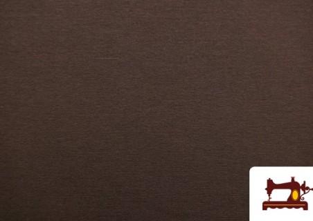 Tela de Sudadera Flannel Lisa de Colores color Marrón