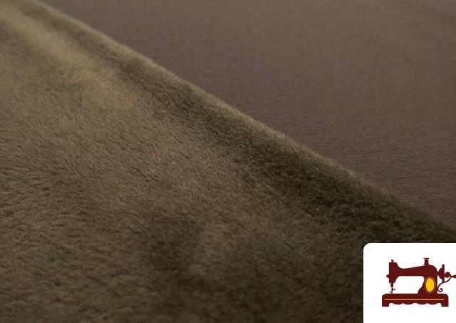 Comprar Tela de Sudadera Flannel Lisa de Colores color Marrón