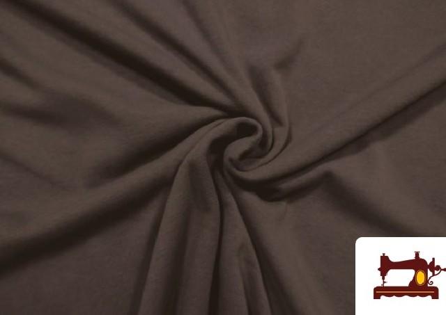 Venta de Tela de Sudadera Flannel Lisa de Colores color Marrón