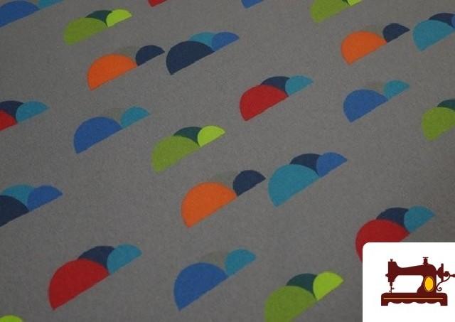 Comprar Tela de SOFTSHELL estampado Montañas de colores color Gris