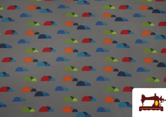 Venta de Tela de SOFTSHELL estampado Montañas de colores color Gris