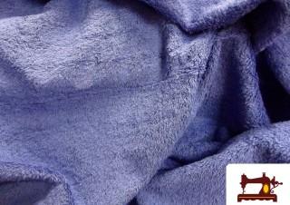 Tela de Rizo Americano de Algodón Azul