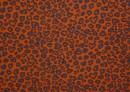 Tela de Punto de Camiseta Leopardo y Corazones