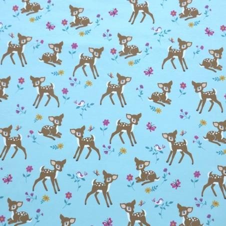 Tela de Punto Camiseta Bambi