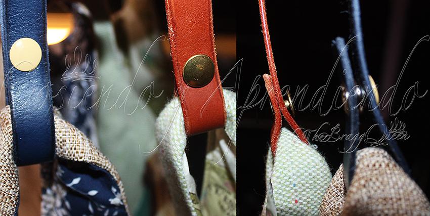 Cómo coser asa de cuero a un bolso escarlata